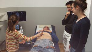 Studenten beim Urologischen Sonokurs bei Dr. Langer